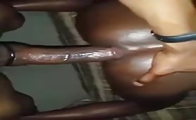 Good interracial bareback fuck