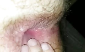 Cum on his hairy ass