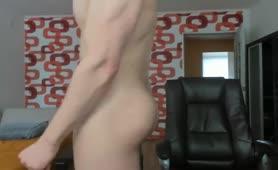 Cute guy jerks off on webcam