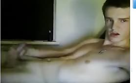 20yo virgin straight twink boy has a wank cam to cam with a girl