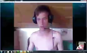 Young gay boy self sucks on webcam_libtheora_x264