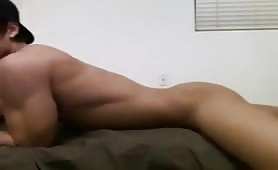 Muscular Latino Boy Jerking Off For Free