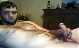 Hairy Turkish guy masturbating