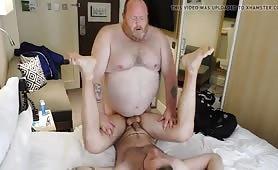 Fat guy fucking a slim tattooed guy