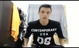 American college boy jerking off