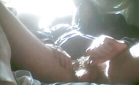 Horny guy jerking off for you